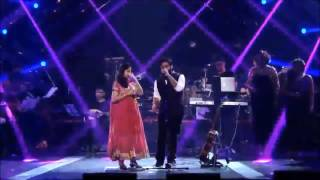 ARIJIT singh live Gima Awards 2016 with his singing Partner best Song medley