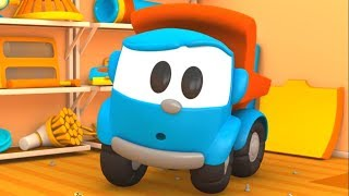 Leo the Truck and vacuum cleaner. Cartoons for kids.