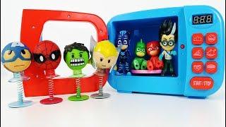 Pijamaskeliler Avengers Karakterlerine Dönüşüyor   Pj Masks Turned Into Avengers Characters