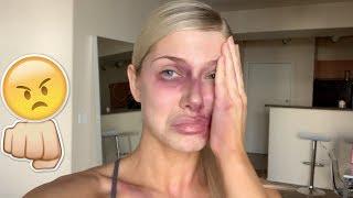 I GOT BEAT UP BY A MAN PRANK ON BOYFRIEND!!! VERY EMOTIONAL *HE CRIED*