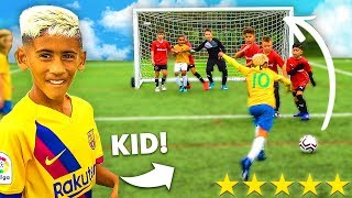 8 YEAR OLD KID MESSI SCORES FREE KICK.. SV2 1 MILLION PRO Football Competition