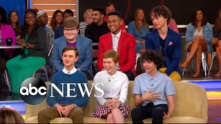 The cast of 'It' opens up about the highly-anticipated film live on 'GMA'