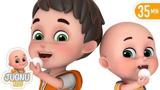 Chunnu Munnu - चुन्नू मुन्नू | Hindi Nursery Rhymes for kids - Hindi Kavita by jugnu kids