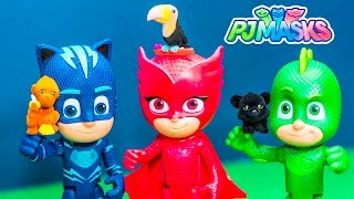 PJ MASKS Disney Gekko and Catboy Talking Figures with Surprise Toys Video