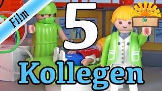 5 ARTEN von KOLLEGEN! Playmobil Film deutsch | Ärzte, Banker und Polizisten