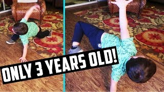 3 YEAR OLD PERFORMS BREAK DANCE ROUTINE *YOU HAVE TO SEE THIS** Day 265...   GYMNASTICS