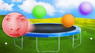 INSANE TRAMPOLINE GOLF PARK! (Golf With Your Friends)