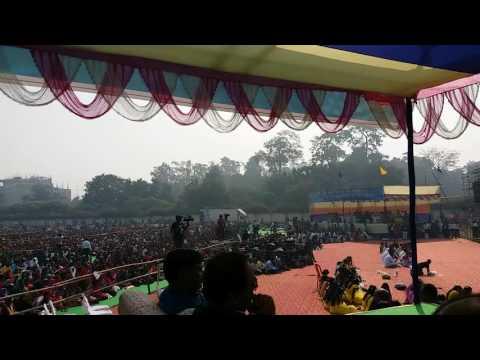 Dr.Ashok Chaudhry, Education Minister, Govt. of Bihar giving  speech at GEMS function Patna