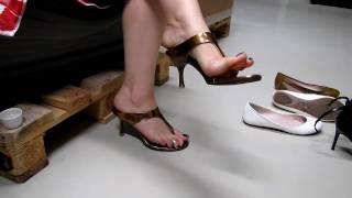 Copper High Heels dangling