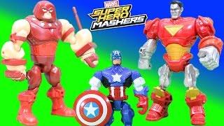 Marvel Super Hero Mashers Juggernaut & Colossus Adventure with Captain America,  Spiderman & More!!