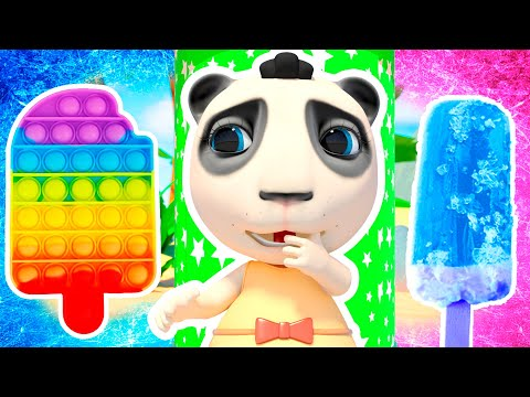 Dolly and Friends play Rainbow Ice Cream Pop it Challenge Hot vs Cold Cartoons and Nursery Rhymes