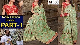 Designer Saree with blouse piece | Online saree review | Jomso review part-1 | TF