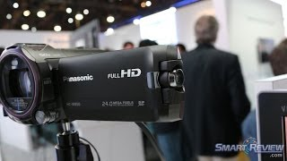 CES 2014 | Panasonic HC-W850K Full HD Camcorder Demonstration |  WiFi & NFC | W850 SmartReview.com