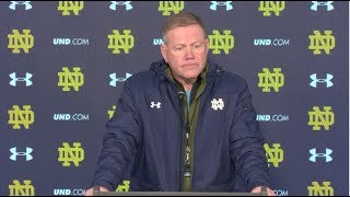 @NDFootball Brian Kelly Press Conference - Navy (11.16.17)