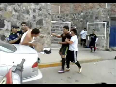 Juego de futbol termina en pelea campal en Guanajuato