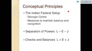 Unacademy: Overview of Indian Parliament & Related Concepts - The 3 Golden Rules of Indian Polity