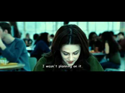 twilight - first meet  bella and  cullens  - school scene with subtitle