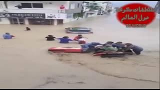فيديو من بداية فيضانات تونس نابل إلى قدوم الجيش والحماية المدنية - يا لطيف أستر 22.09.2018
