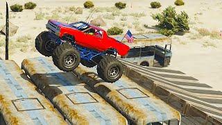 MASSIVE MONSTER TRUCK BUS JUMP! (GTA 5 Funny Moments)
