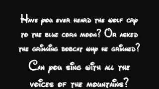 Colours Of The Wind - Pocahontas Lyrics
