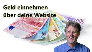 Geld einnehmen über deine Website
