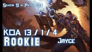 Rookie JAYCE vs AATROX Mid - Patch 9.1 KR Ranked
