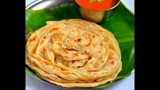 How to make Wheat Soft Parotta / Kerala poratta