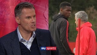 Jamie Carragher slams Paul Pogba after bust-up with Jose Mourinho