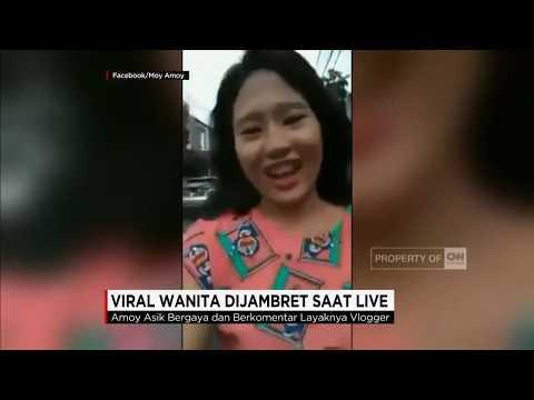 Wanita Dijambret saat Live Facebook, Wajah Pelaku Terekam
