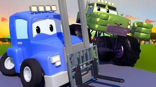The FORKLIFT Truck - Carl the Super Truck in Car City   Children Cartoons