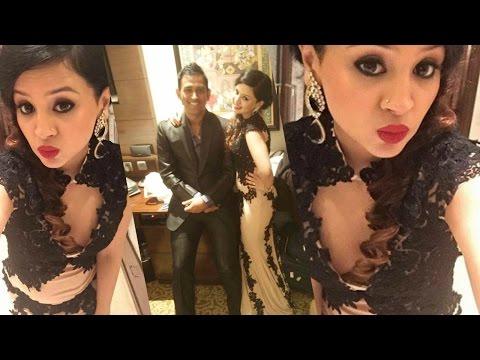 MS Dhoni's Wife Sakshi Rawat Hot At Harbhajan Singh & Geeta Basra Wedding Reception !!