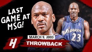 40 Yr-Old Michael Jordan Full Highlights vs Knicks (2003.03.09) - 39 Pts, Last Game At MSG!