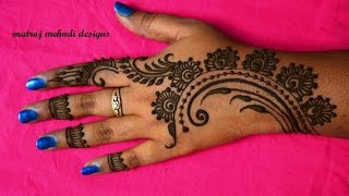easy stylish mehndi designs for hands mehndi designs Matroj Mehndi Designs