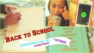 BACK TO SCHOOL // Organization, Study Tips, & Life Hacks for High School