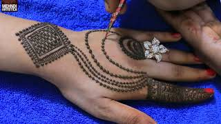 Simple Beautiful Jewelry Mehndi Design | Ornamental Style henna Mehendi Tattoo For Hands