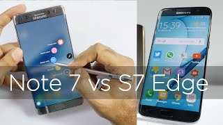 Samsung Galaxy Note 7 vs Galaxy S7 Edge Comparison