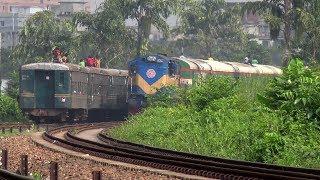 Crossing Between Titas Commuter & Silk City Express Train of BD Railway