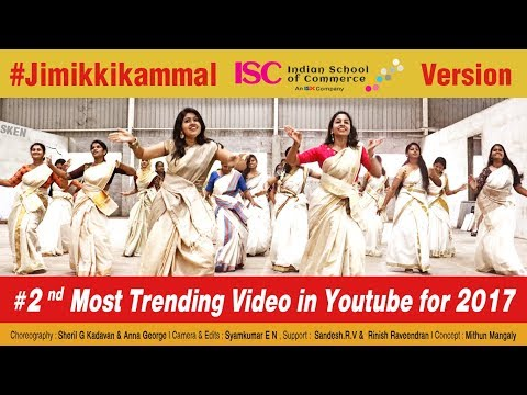Jimikki Kammal  - Dance Perfomance by Indian School of Commerce