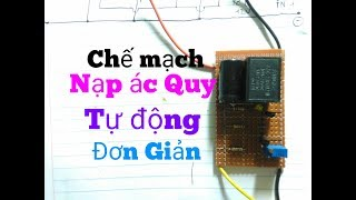 How to make automatic cut off battery charger circuit 12V