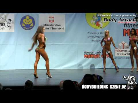 World Championships 2012 Women s Bikini Fitness up to 163cm round I