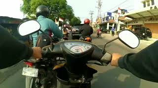 #Vlog #motovlog riding YAMAHA MIO | Ketemu cbr arogan ! 😡