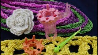 نول البريم لصنع سلاسل مع استخداماتها سكارف Wonder knitter and it