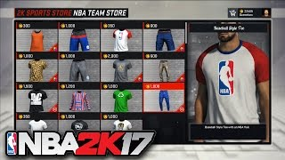 NBA 2K17 - All Outfits & Clothes (Jersey/T-Shirt/Shorts/Joggers) SHOWCASE