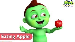 GREENY KIDDO Eating An APPLE Get Sick   Funny Video For Kids - KidsOne