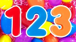 123 Surprise Eggs | Learn Numbers & Counting Compilation, Teach Toddlers Colors, ESL Learning Videos