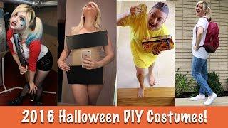 2016 DIY HALLOWEEN COSTUMES TUTORIAL  Harley Quinn, Kim Kardashian, Eleven, Damn Daniel