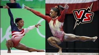 Simone Biles, Olympics 2016 VS 2018 GK U.S. Classic | then vs now