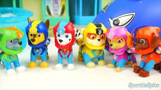 Learn Colors with Paw Patrol Chase Bad Driver Baby doll LOL Surprise Dentists and Shark Eats Skye