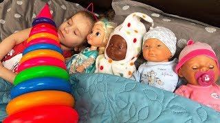 Are you sleeping brother John &  Giant Stacking Rings Educational Video for  Kids JoyJoy Lika