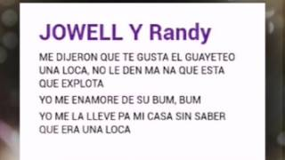 Guadalupe jowell y randy (letra)